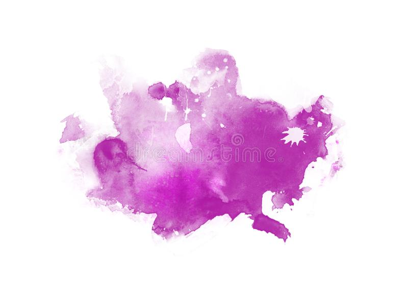 Patches water color graphic color brush strokes patches. Purple water color graphic color brush strokes patches effect background stock illustration