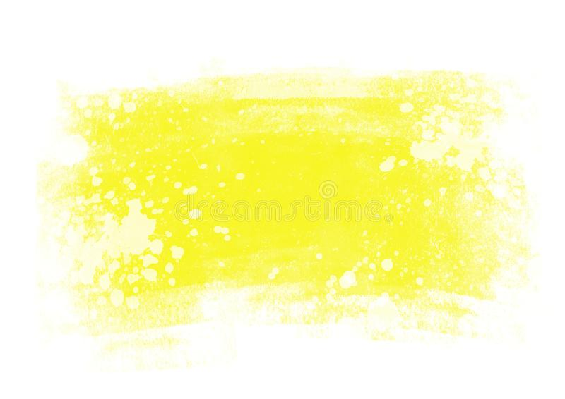 Patches water color graphic color brush strokes patches. Yellow water color graphic color brush strokes patches effect background royalty free stock photography
