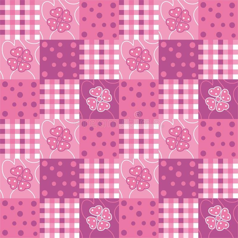 patchwork royaltyfri illustrationer