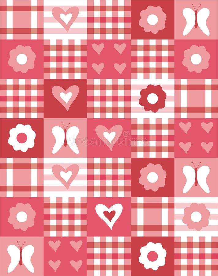 patchwork stock illustrationer