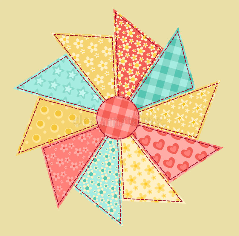 Free Patchwork Abstract Flower 1. Royalty Free Stock Photography - 25358017