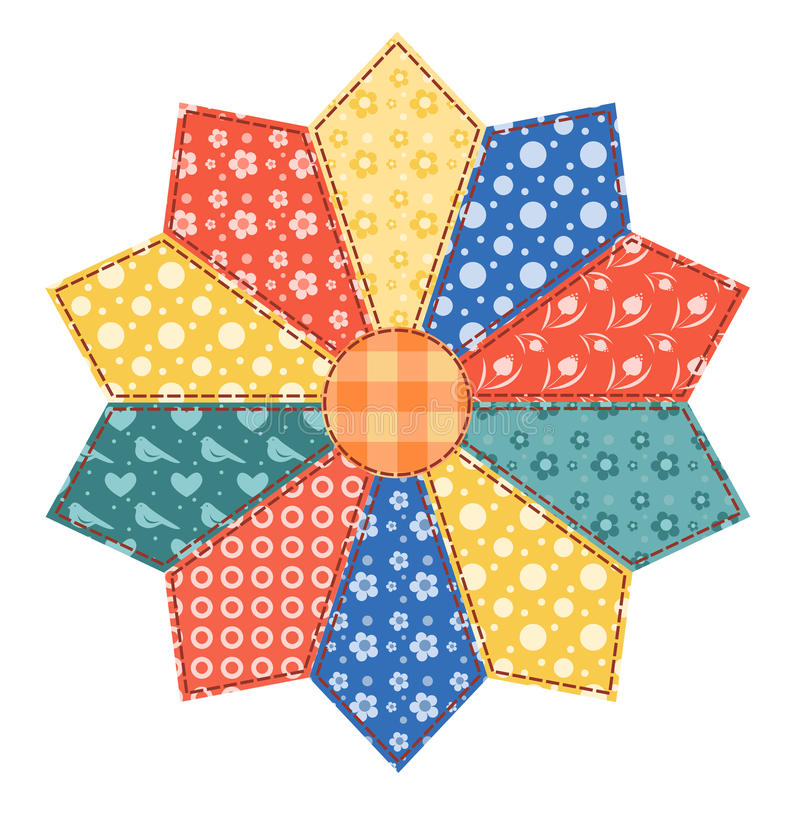 Download Patchwork Abstract Flower 3. Stock Illustration - Illustration of group, flower: 25357738