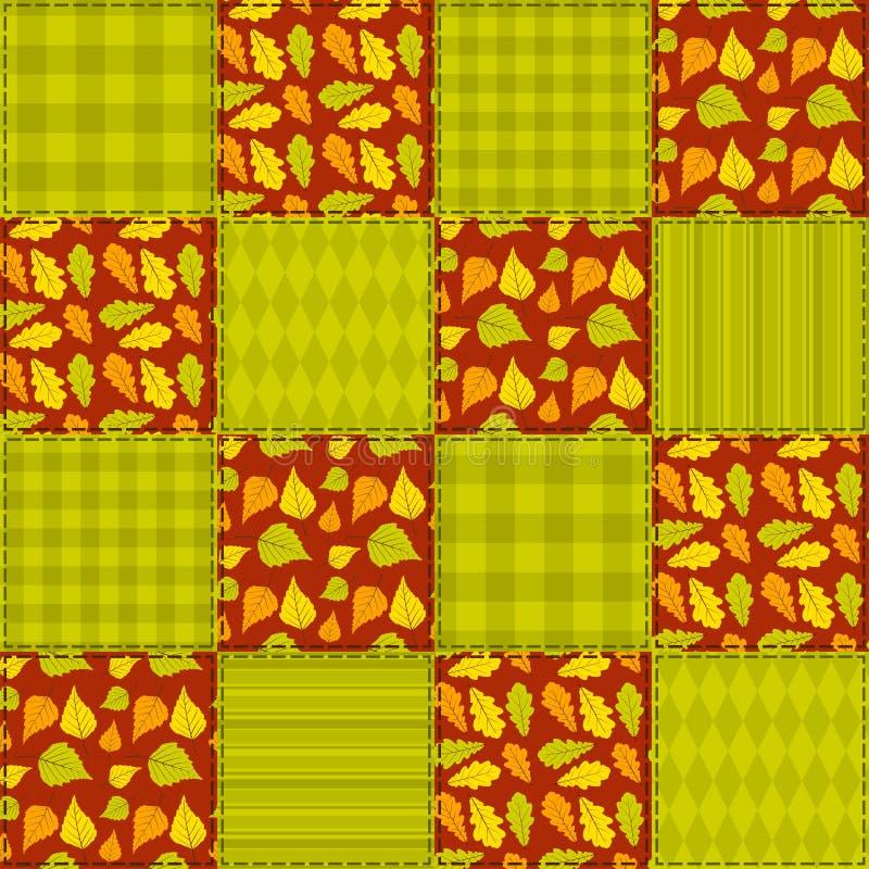 Patchwork autumn pattern 2.