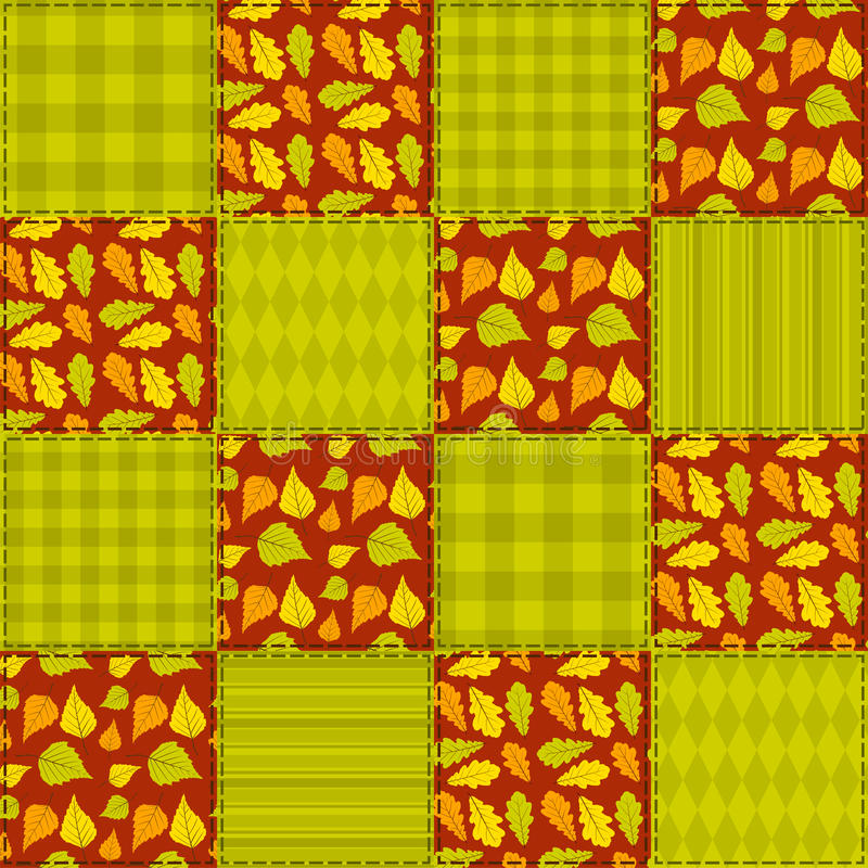 Download Patchwork Autumn Pattern 2. Stock Vector - Illustration: 34649616