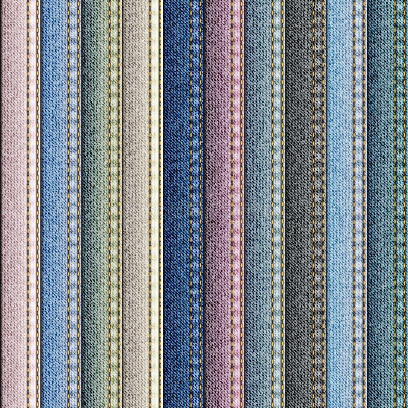 Patchwork av grov bomullstvilltyg vektor illustrationer