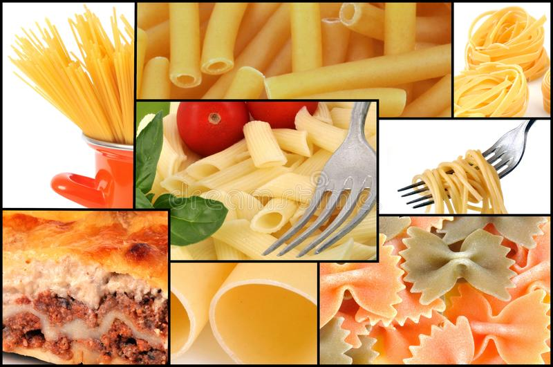 Patchwork av pasta royaltyfria bilder