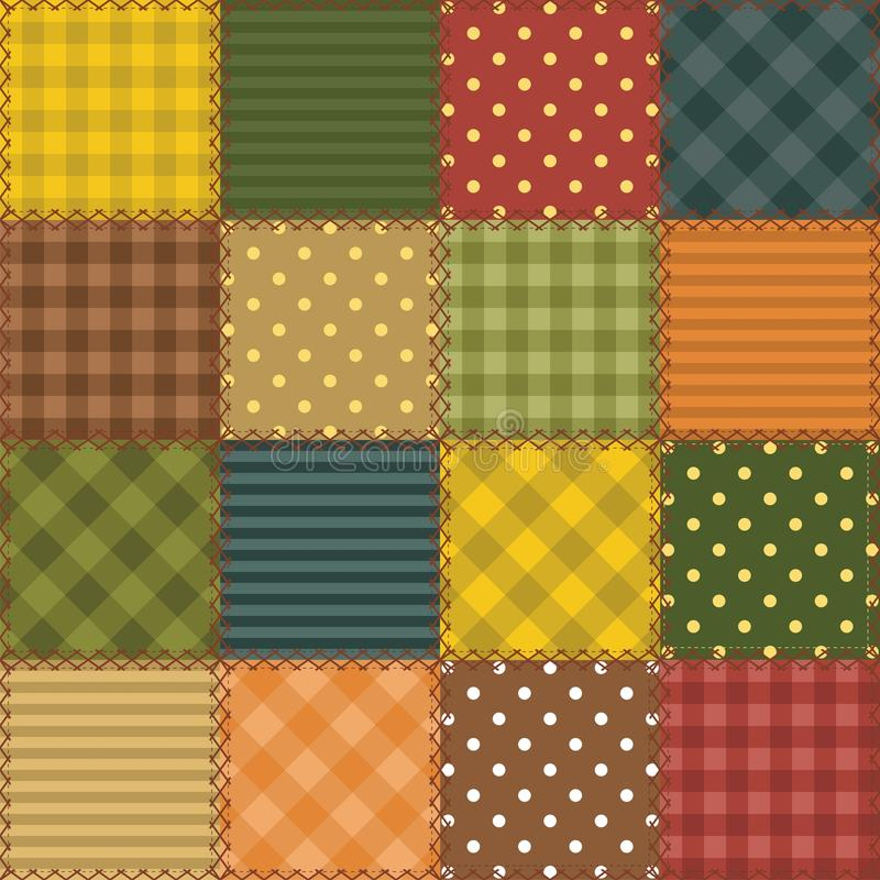 Download Patchwork Background With Different Patterns Stock Illustration - Image: 24369026