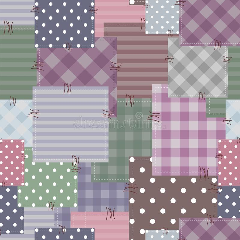 Download Patchwork Background With Different Patterns Stock Illustration - Illustration of beautiful, hand: 24369068