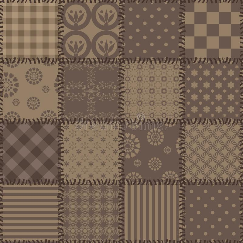 Download Patchwork Background With Different Patterns Stock Illustration - Image: 24369207
