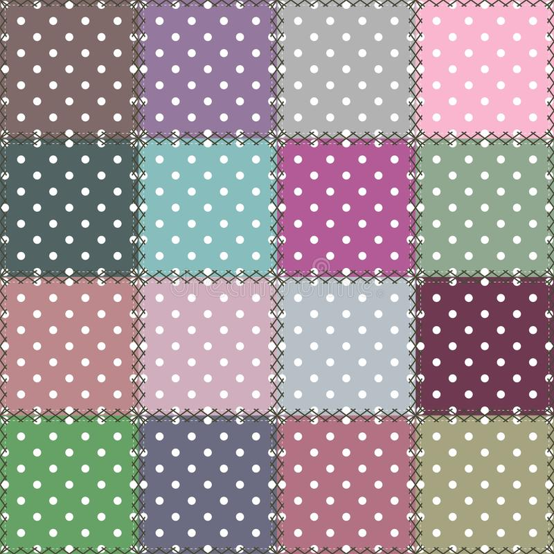 Download Patchwork Background With Different Patterns Stock Illustration - Image: 24457082