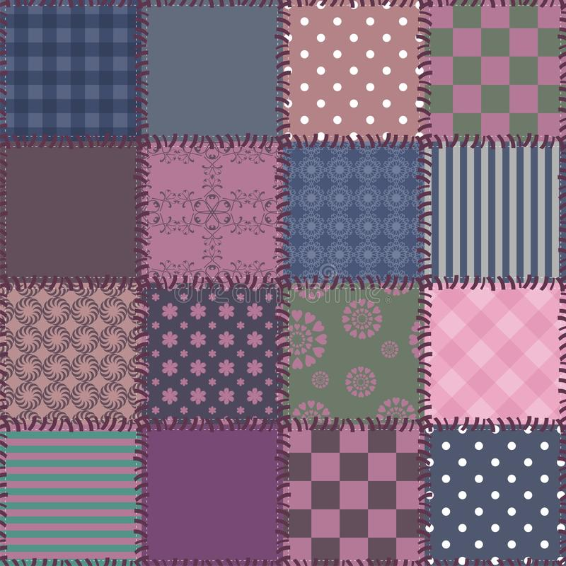 Download Patchwork Background With Different Patterns Stock Illustration - Image: 24457161