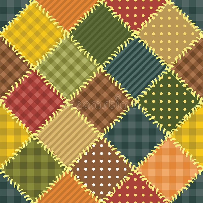 Patchwork Background With Different Patterns Royalty Free Stock Photos