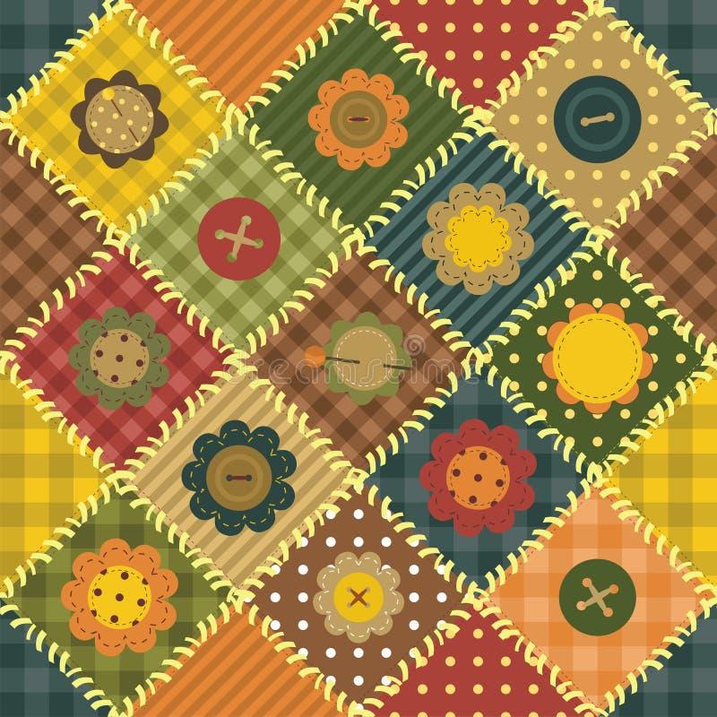 Download Patchwork Background With Different Patterns Stock Illustration - Illustration of handiwork, gingham: 25837894