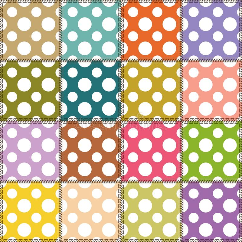 Download Patchwork Background With Different Patterns Stock Illustration - Image: 25838348