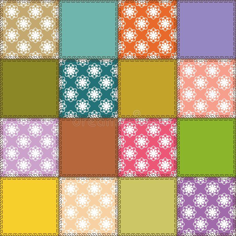 Download Patchwork Background With Different Patterns Stock Illustration - Image: 25838368