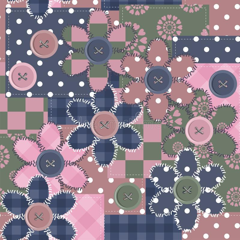 Download Patchwork Background With Different Patterns And F Stock Illustration - Image: 24666187