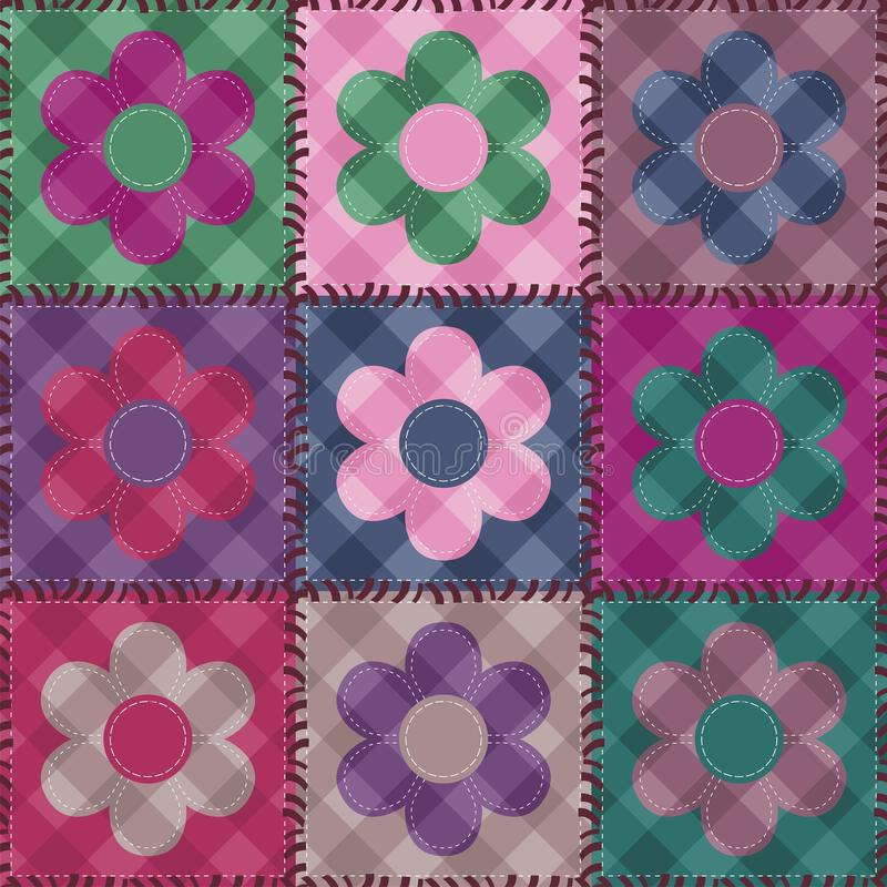 Download Patchwork Background With Flowers Royalty Free Stock Photography - Image: 26990357