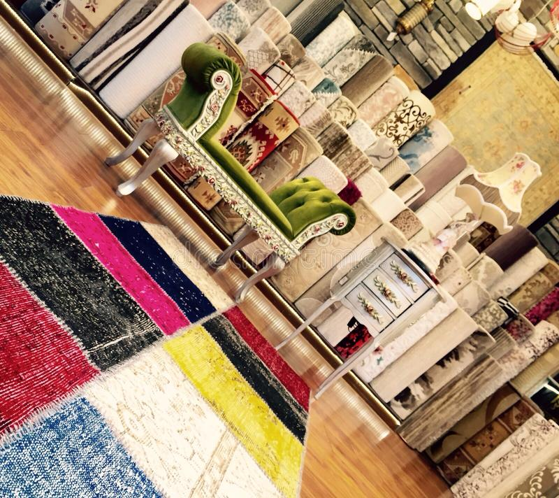 Patchwork carpet , originality royalty free stock image