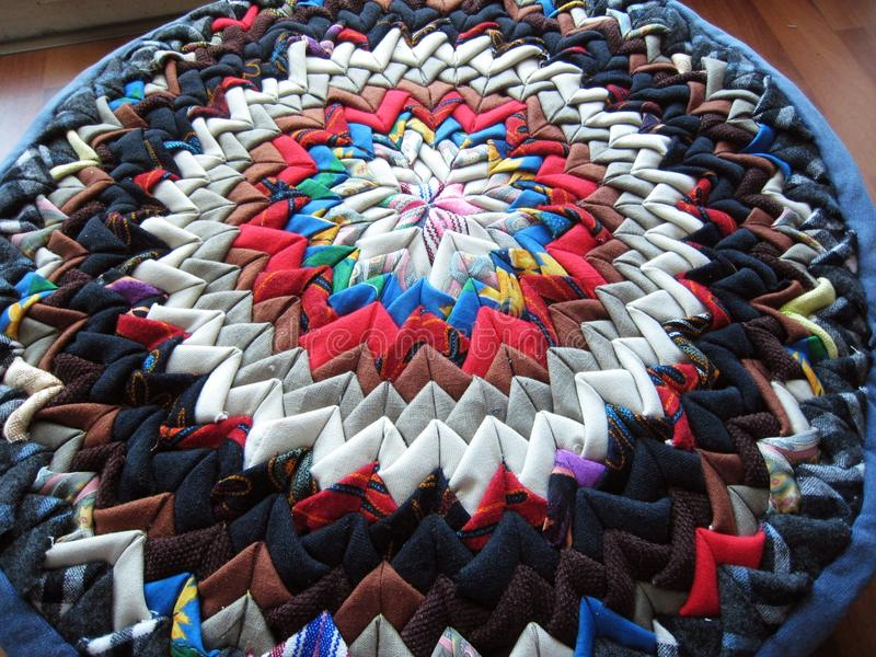 Download Patchwork Cushion Made Of Triangle Patches Stock Photo - Image: 13812226