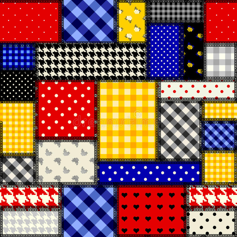 Patchwork dans le style de cubisme illustration stock