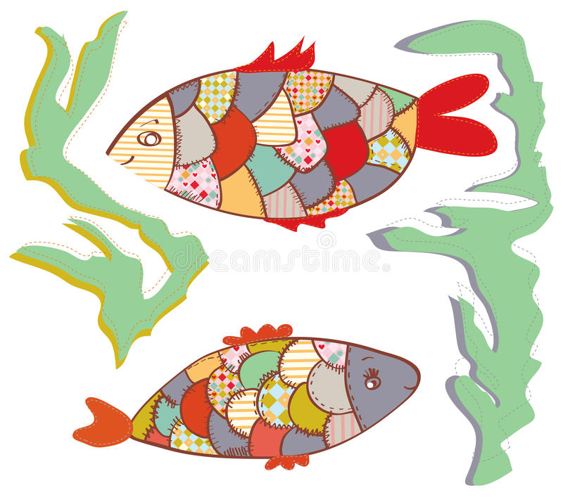 Download Patchwork Fishes  In The Water Funny Stock Vector - Image: 29100526