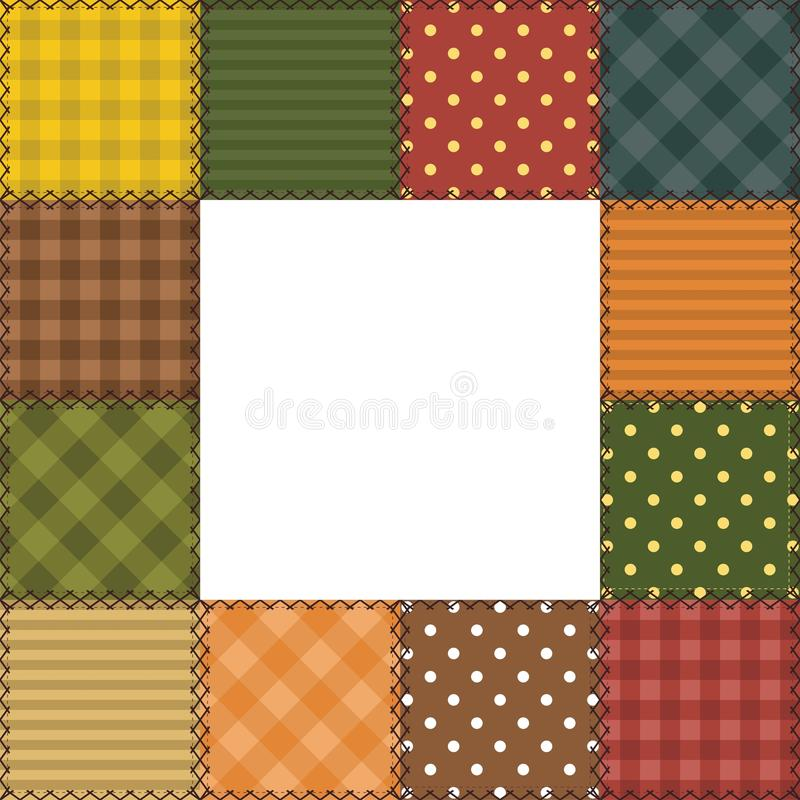 Patchwork Frame With Different Patterns Stock Image