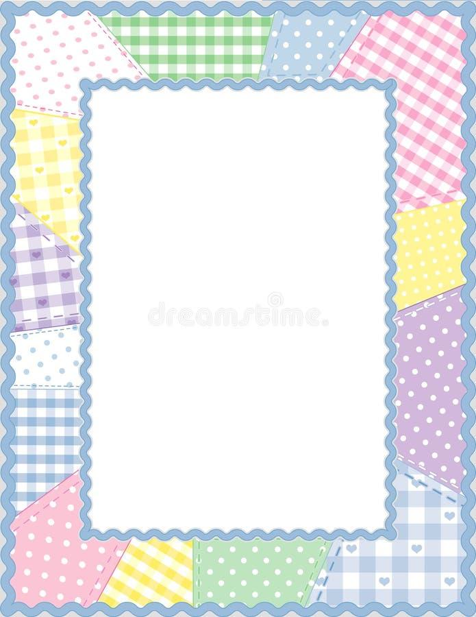 Patchwork Frame, Pastels royalty free illustration