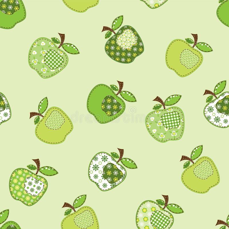 Free Patchwork Green Apple Tree Royalty Free Stock Photography - 23683847