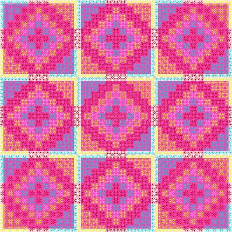 Patchwork-Muster stock abbildung