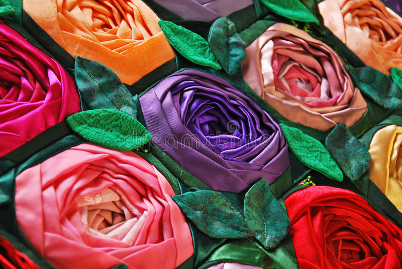 Download Patchwork Quilt With Flowers Stock Image - Image: 21482053