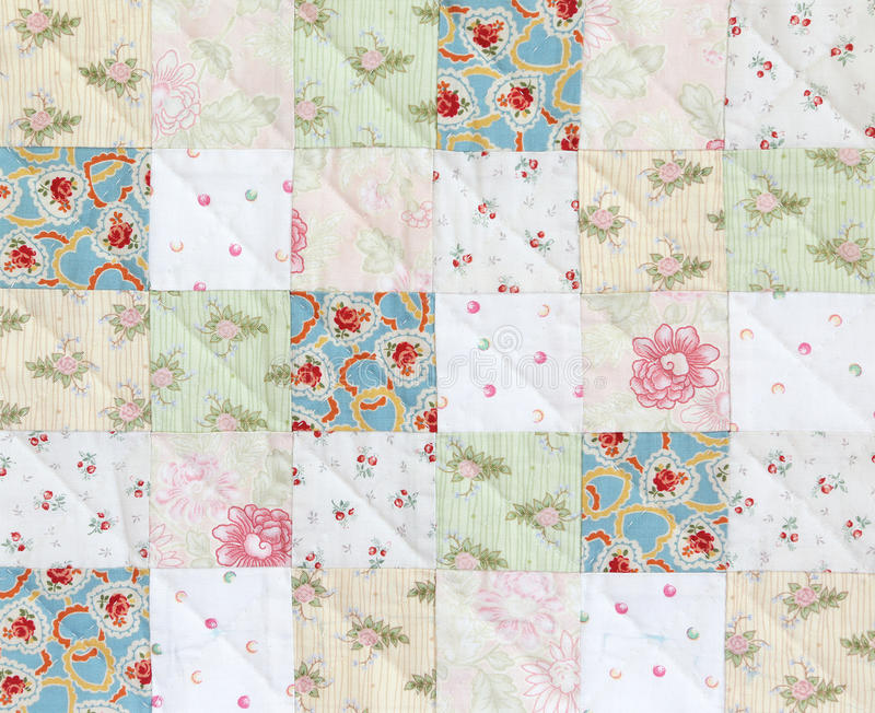 Patchwork Quilt pattern stock photo