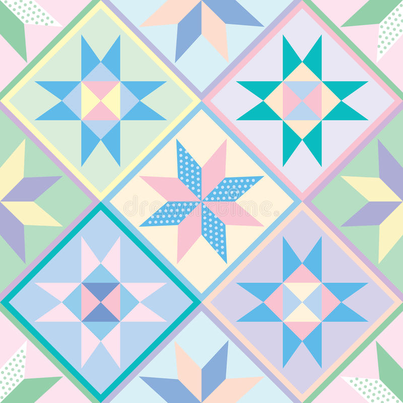 Download Patchwork Quilt Seamless Pattern Stock Vector - Image: 16069697