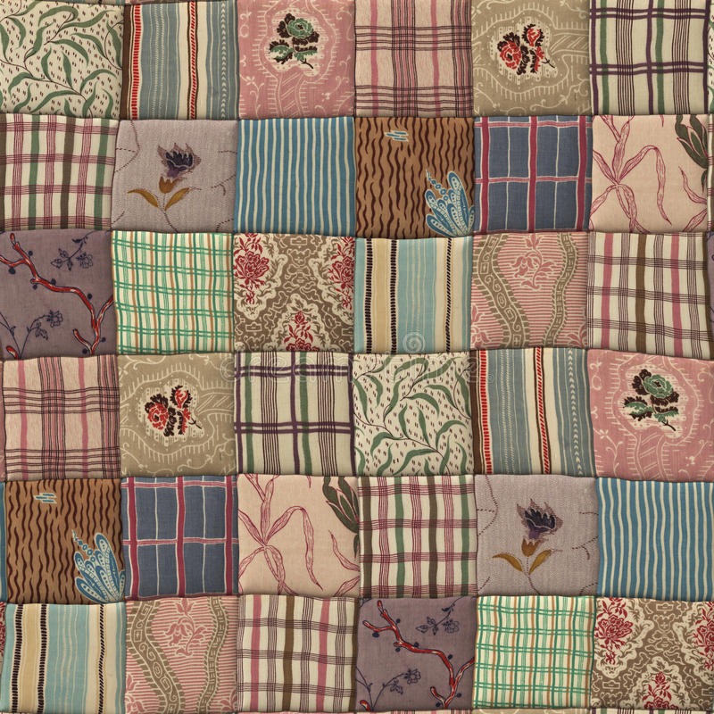Patchwork quilt seamless texture. 3D country patchwork quilt seamless texture vector illustration