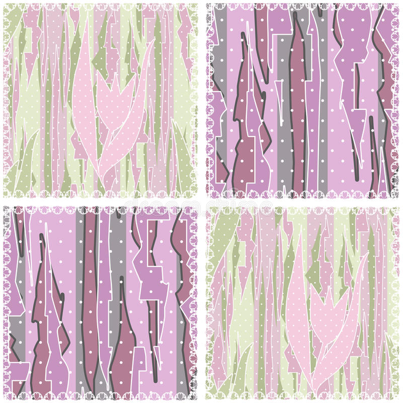 Patchwork seamless geometric pattern background stock illustration