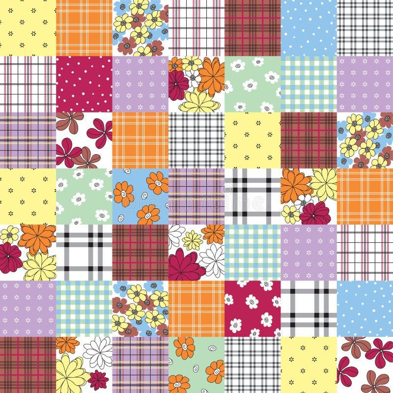 Patchwork seamless pattern stock image