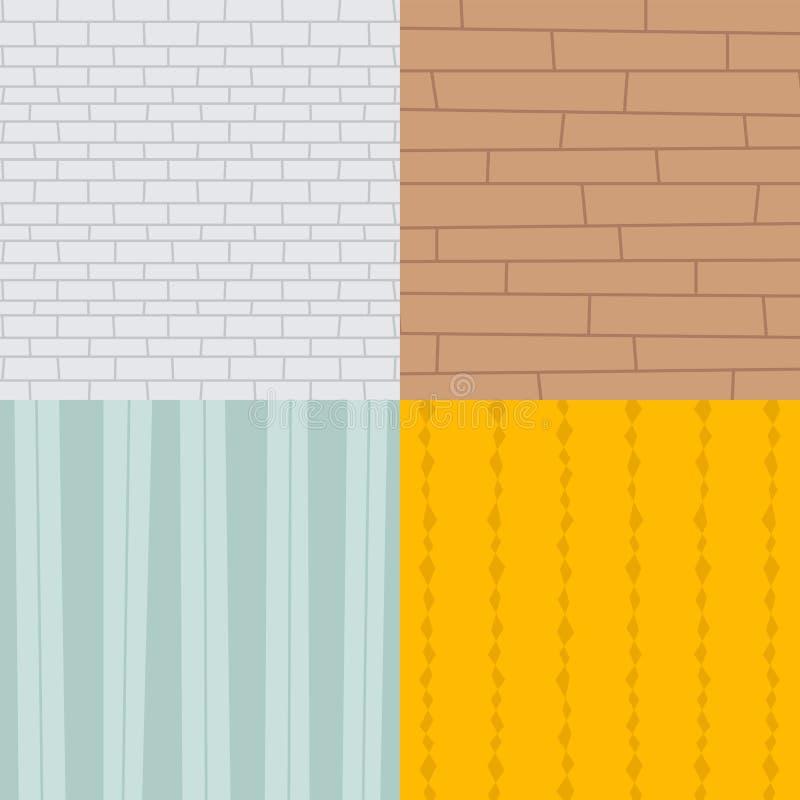 Patchwork textile brick texture seamless clothes pattern background tile decorative ornament design vector illustration. stock illustration