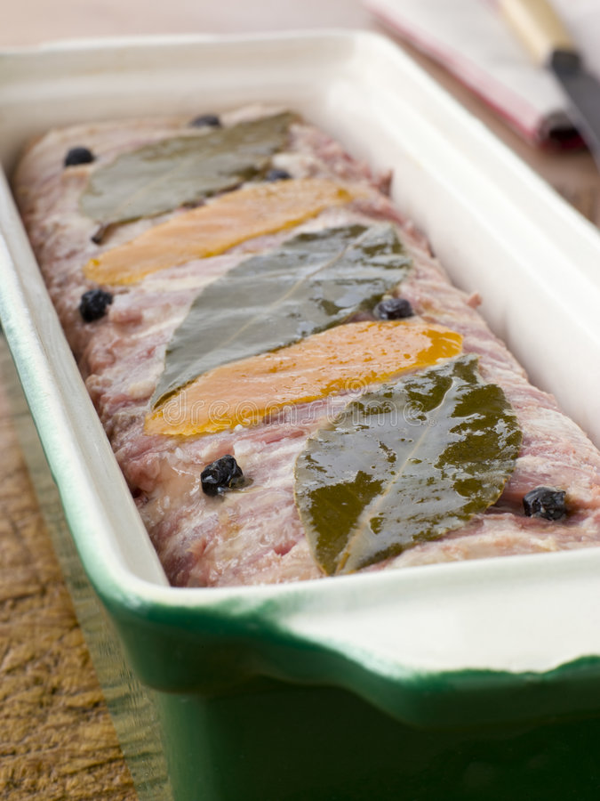Download Pate Campagne In A Terrine Mould Stock Image - Image: 5623685