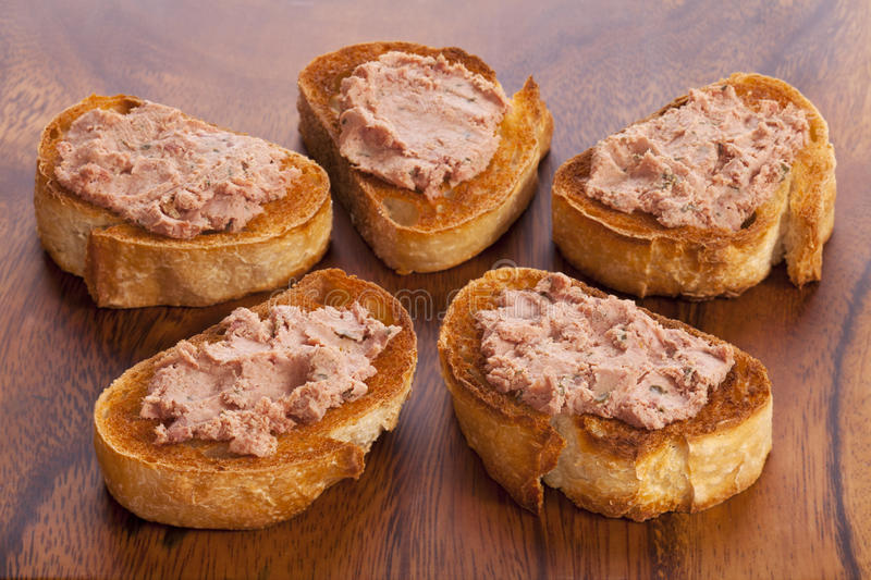 Download Pate And Toast On A Wooden Board Stock Image - Image: 25647743