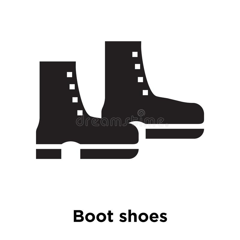 Patee el vector del icono de los zapatos aislado en el fondo blanco, concep del logotipo ilustración del vector