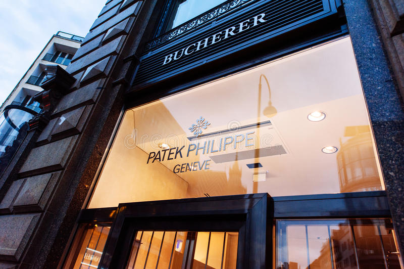 Patek Philippe flagship store facade stock images
