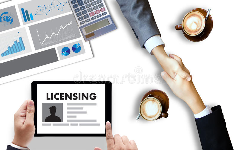 Patent license agreement licensing business man hand working o stock download patent license agreement licensing business man hand working o stock illustration illustration of licensing platinumwayz
