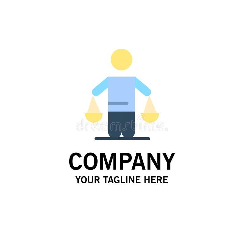 Patent, Schlussfolgerung, Gericht, Urteil, Gesetzesgeschäft Logo Template flache Farbe stock abbildung