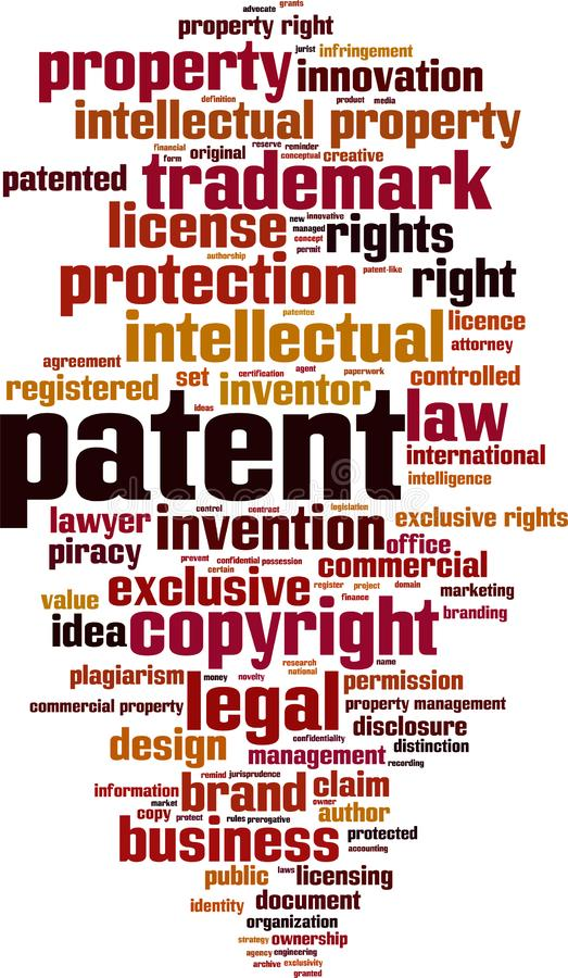 Free Patent Word Cloud Stock Photography - 160035542