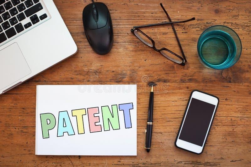 Patente, concepto foto de archivo libre de regalías