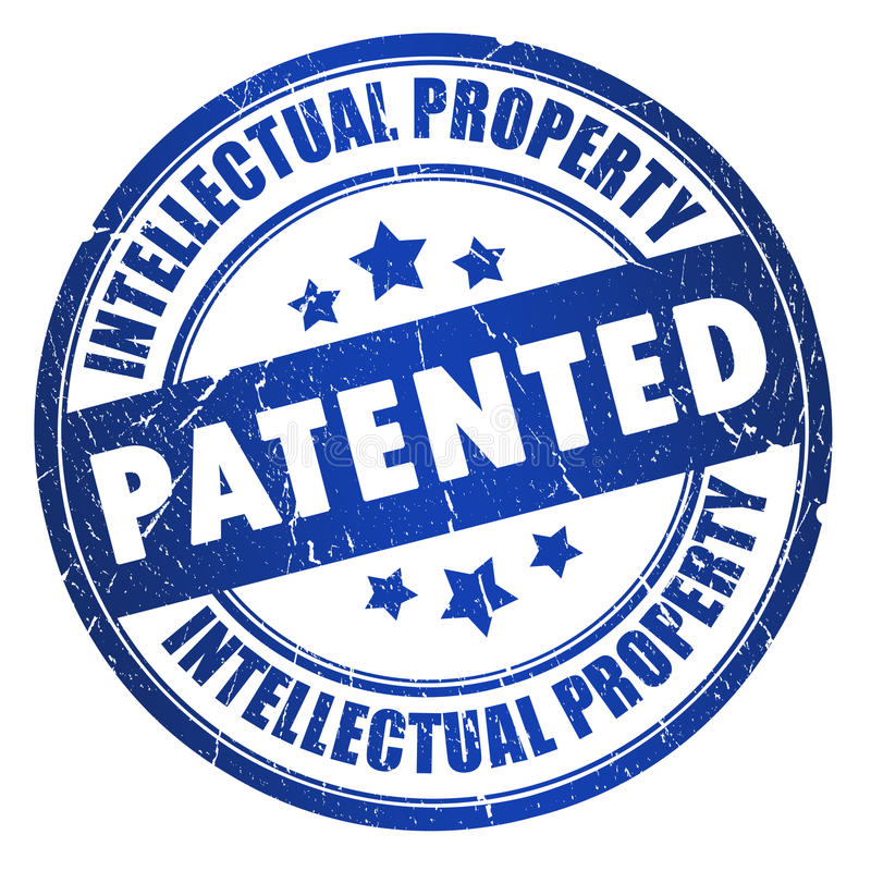 patenterad stämpel vektor illustrationer