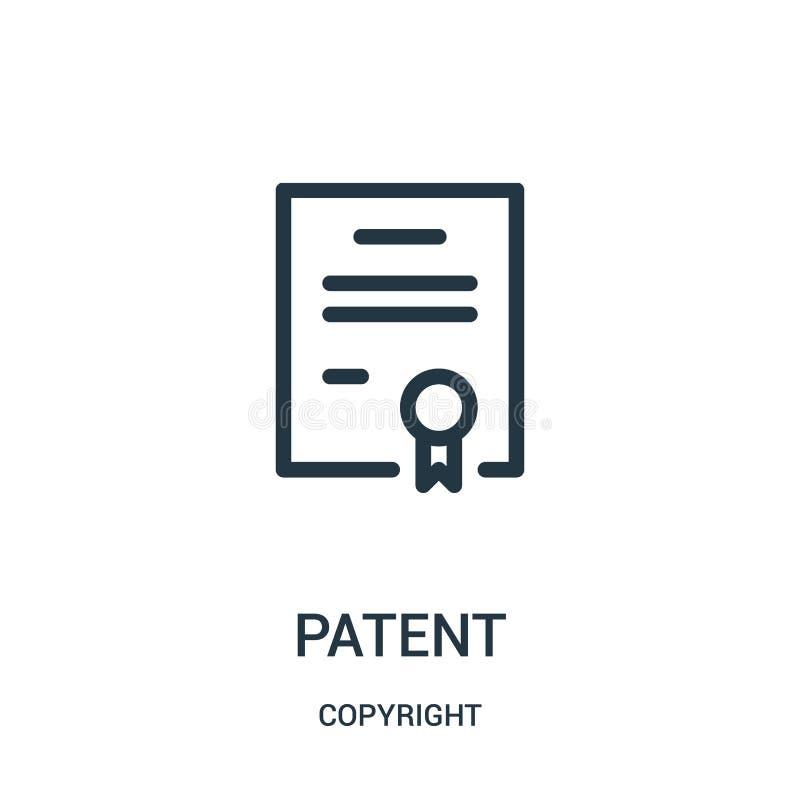 Patentikonenvektor von der Copyrightsammlung Dünne Linie Patententwurfsikonen-Vektorillustration vektor abbildung