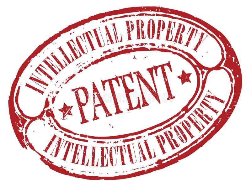 Patentowy znaczek ilustracja wektor