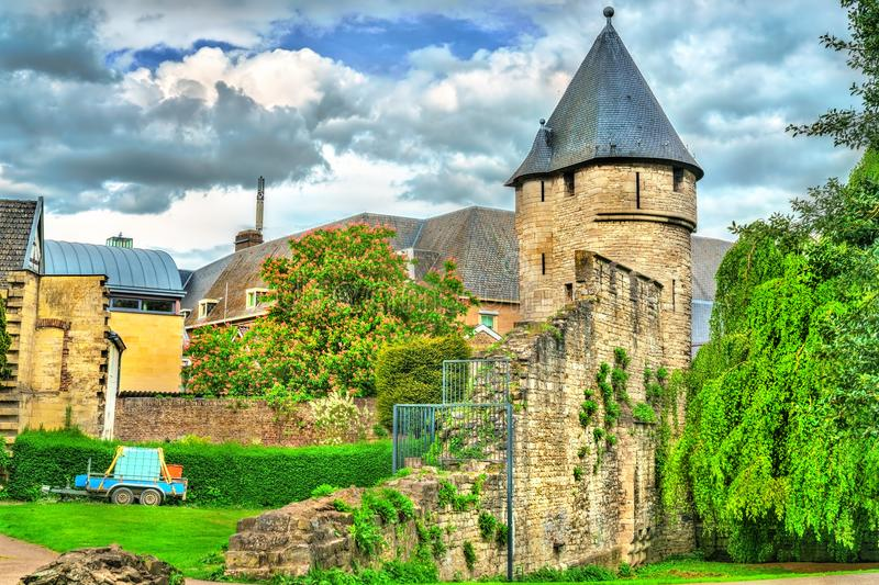 Pater Vincktoren, a medieval tower in Maastricht, the Netherlands royalty free stock image
