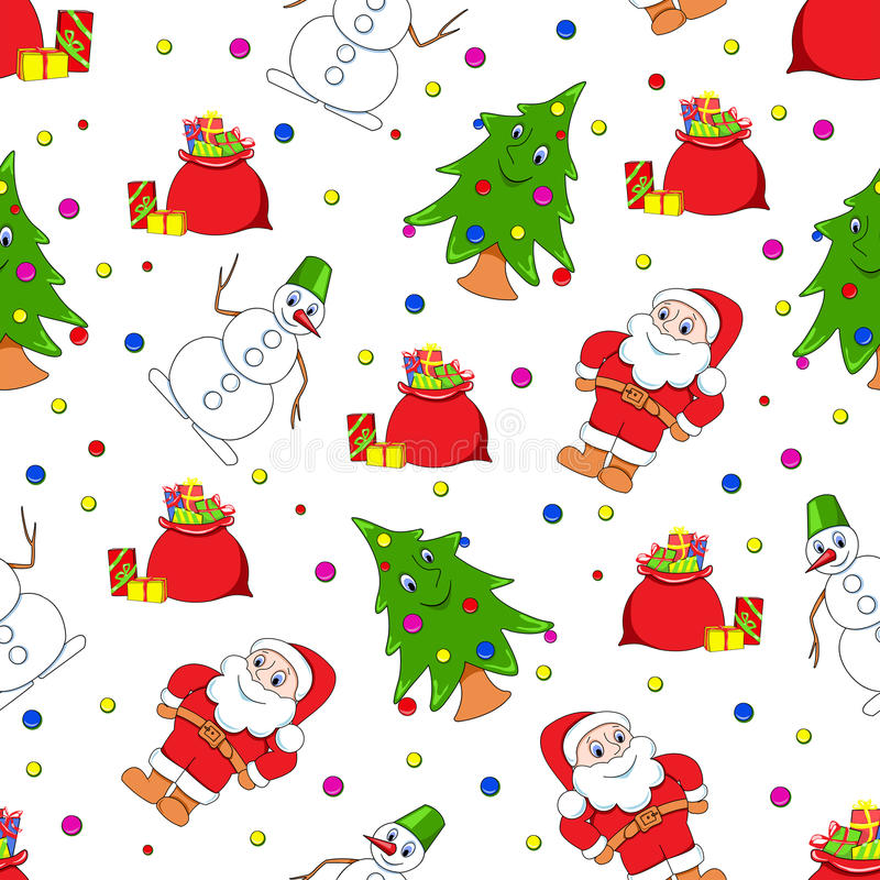 patern άνευ ραφής Χριστουγέννω&n απεικόνιση αποθεμάτων