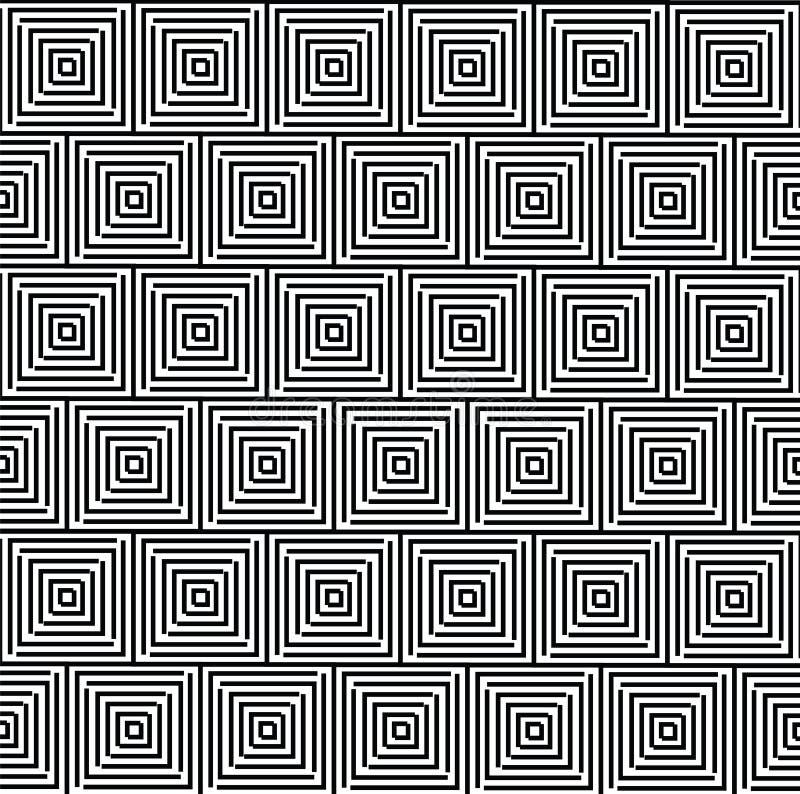 Patern geométrico abstracto con los cuadrados Un backgr inconsútil del vector libre illustration